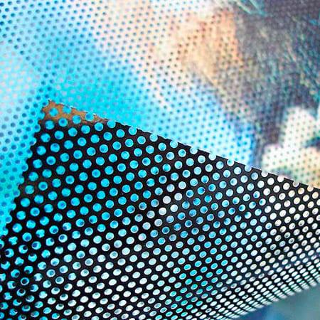 Rotulación de vinilo microperforado Ideactiva Publicidad