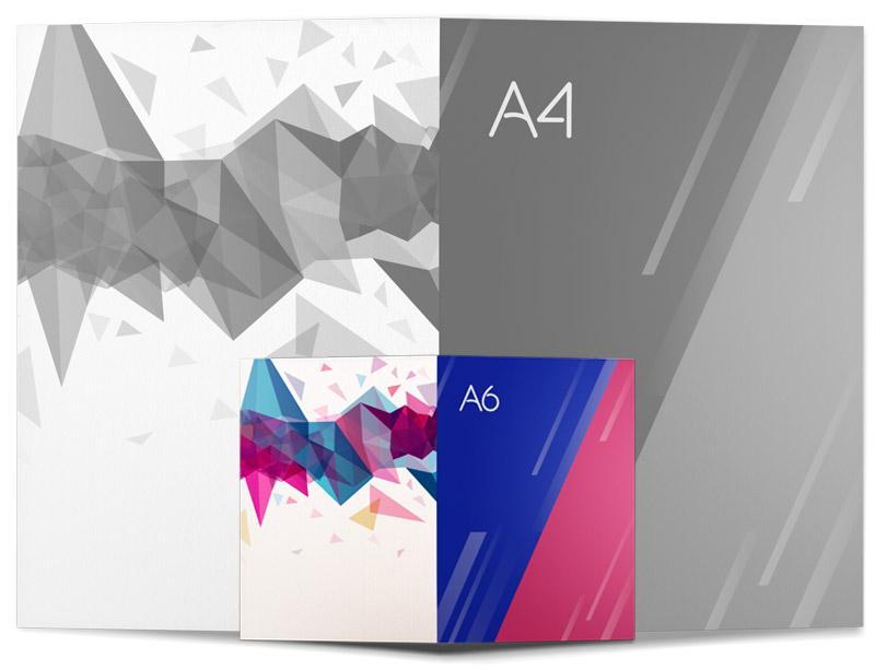 Impresión Díptico A6 Ideactiva Publicidad