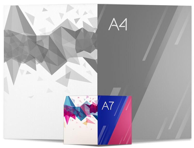 Impresión Díptico A7 Ideactiva Publicidad